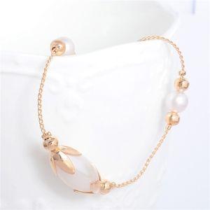 Jewelry - Dainty 14K Gold Pearl Ankle Bracelet / Anklet